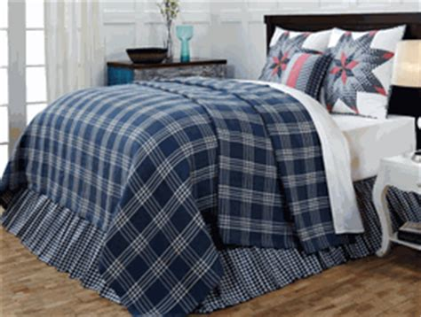 plaid coverlet easton blue plaid woven coverlet by vhc brands