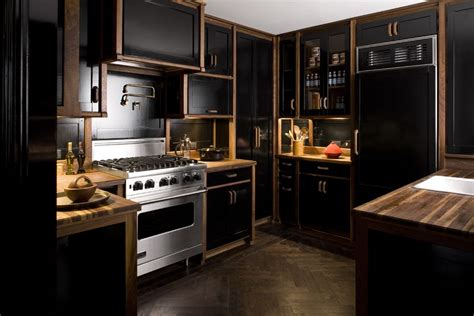 Pictures Of Kitchens With Black Cabinets Farmer Interiors The Black Kitchen