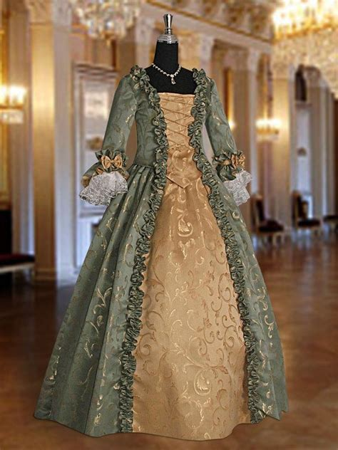 Handmade Renaissance Costumes - baroque renaissance dress handmade in baroque by
