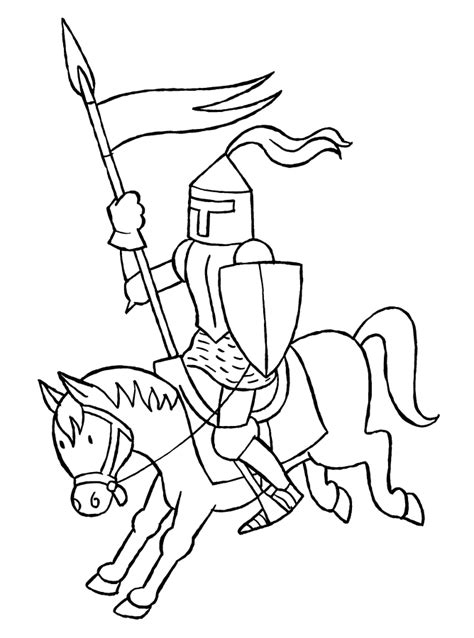 Coloring Page Knights Coloring Pages 15 Knights Colouring Pages