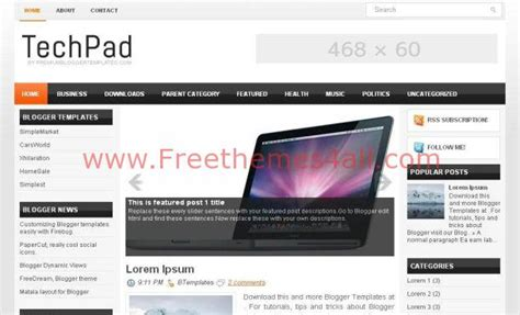 blogspot themes tech silver high tech blogger template download