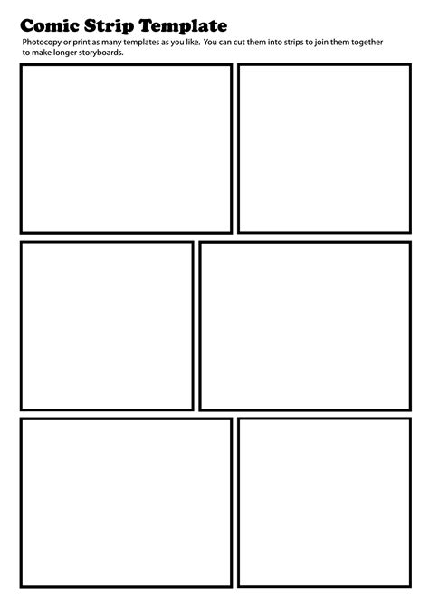 Printable Blank Comic Template For by 7 Best Images Of Free Printable Comic Creator