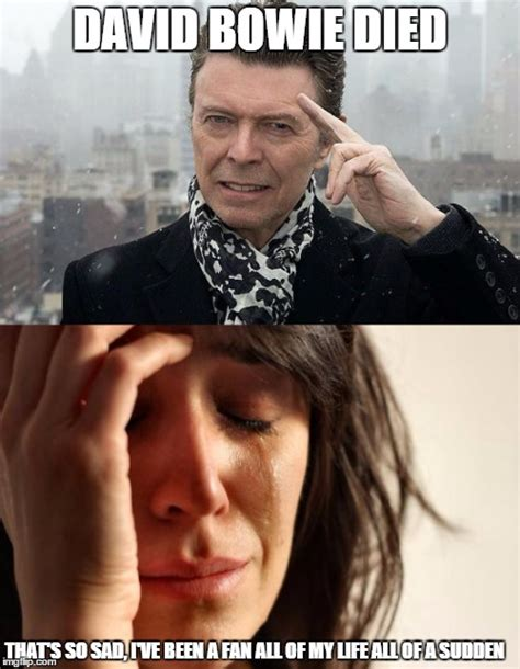 Bowie Meme - for those who suddenly become fans after the artist dies