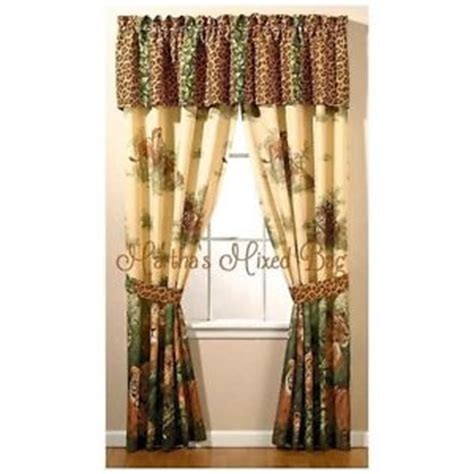 print curtains and window treatments safari jungle 4pc 84 x 84 drapes leopard lion cats animal