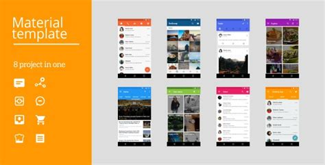 android app ui templates android material ui template 2 1 by dream space codecanyon