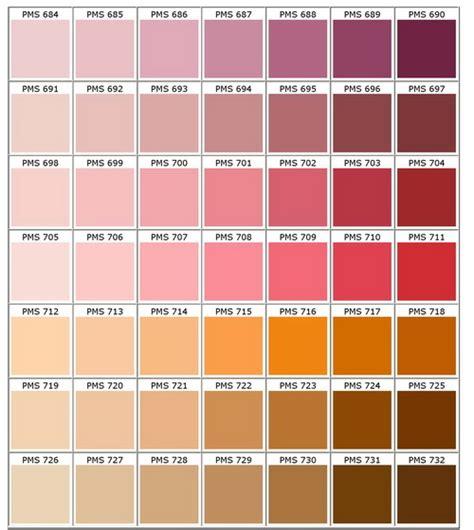 pantone palette pms colour chart bongo