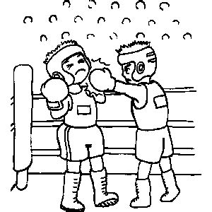 boxing coloring sheet