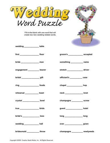 wedding word games printable fun bridal shower printable games wedding shower
