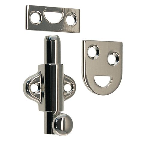 Vertical Subway Tile 2 quot surface door bolt polished nickel