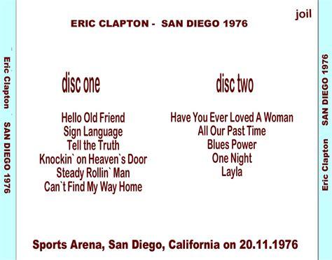 Language Door San Diego by Eric Clapton San Diego 1976