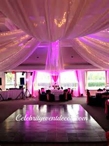 Wedding Decorations Fabric Draping Celebrity Event Decor Banquet Hall Jacksonville Fl
