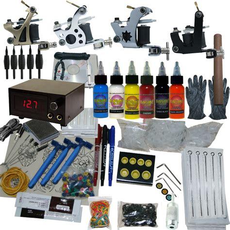 tattoo ink kits wholesale 4 machine apprentice tattoo kit with digital power supply