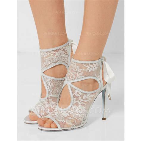 Lace Peep Toe Heel Sandals s lace stiletto heel peep toe sandals 047086285