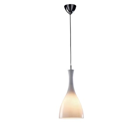 White Glass Pendant Ceiling Light by Dar Ton862 Tone 1 Light White Glass Ceiling Pendant