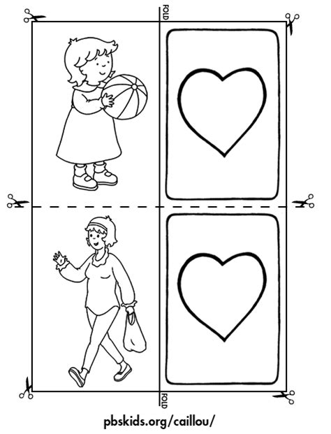 Activity Cards Maker Template by Caillou Activities Memory Activity Card Template 2