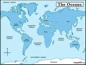 map of the world and seas map travel