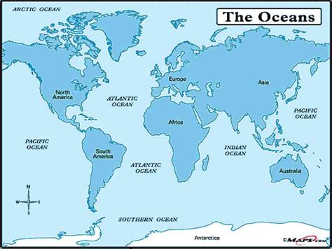oceans map map of the world and seas map travel holidaymapq