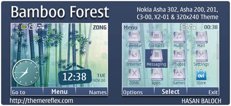 theme maker for c3 bamboo forest theme for nokia x2 c2 01 2700 240 215 320