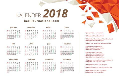 Kalender 2018 Tiket Kalender 2018 Hari Libur Nasional