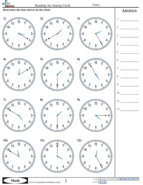 Analog Clock Practice Worksheets by Best 25 Clock Worksheets Ideas On Telling
