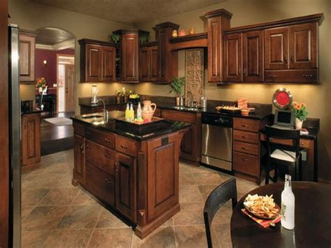 Kitchen Colors For Dark Cabinets | paint colors for kitchens with dark cabinets paint