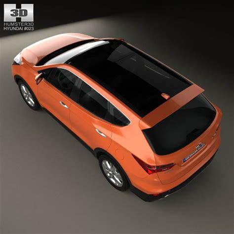 hyundai 2013 models hyundai santa fe sport 2013 3d model hum3d