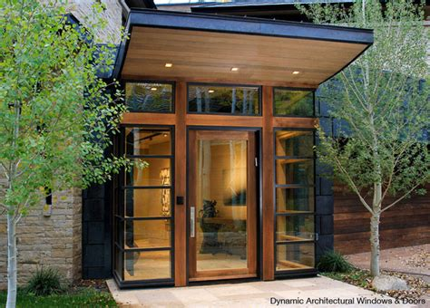 Architectural Front Doors Modern Interior Wooden Front Door Big Window