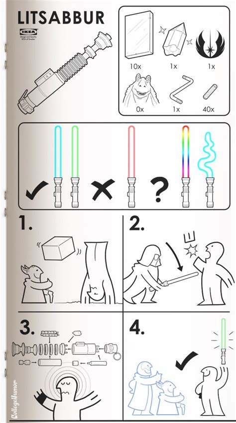 Ikea Instructions Meme - sci fi ikea manuals collegehumor post