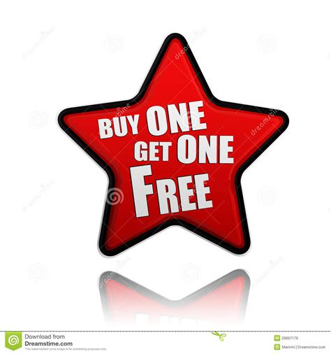one free buy one get one free banner royalty free stock