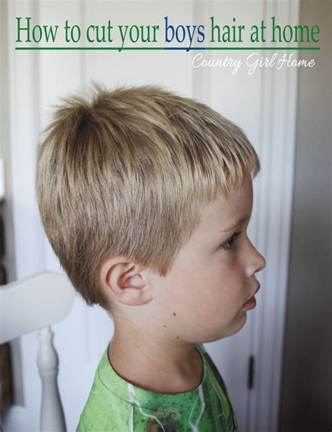 boy haircuts with scissors country home how to cut your boys hair at home for