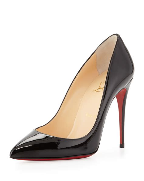 Christian Louboutin lyst christian louboutin pigalle follies patent leather pumps in black