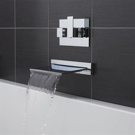 wall mounted bath filler and shower tmv2 thermostatic wall mounted basin or bath mixer tap ebay