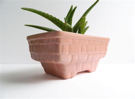 Ceramic Planters Rectangular by Vintage Mccoy Pink Ceramic Planter Large Rectangular