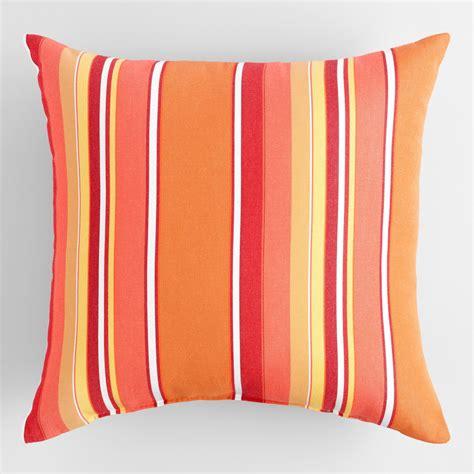 sunbrella mango dolce stripe outdoor throw pillow world
