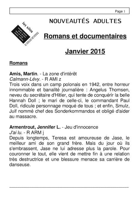 Calaméo - Liste Nouveautés - Section Adultes - Janvier 2016