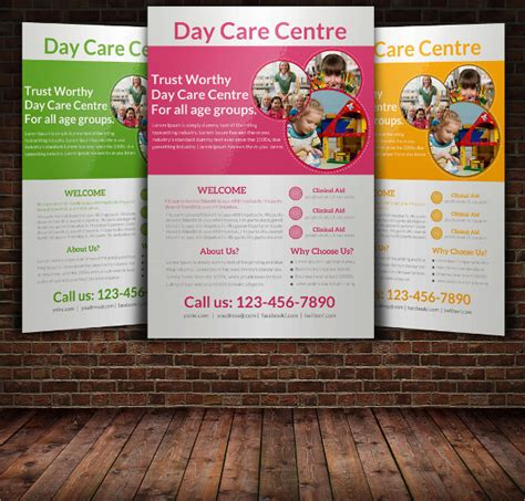 child care flyers templates daycare flyer template 30 download free documents in