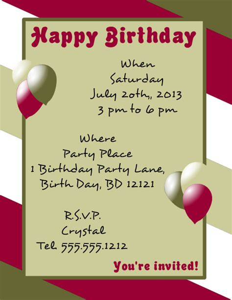 happy birthday flyer template larger view