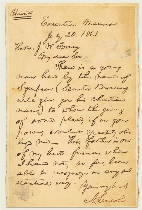 abraham lincoln letter to the mystery solved who was abraham lincoln really writing to