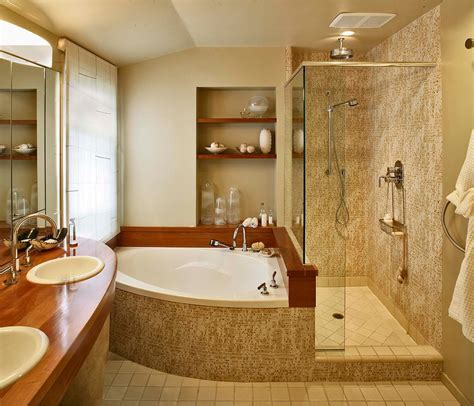 corner bathtub with shower corner bathtub shower bathroom contemporary with none