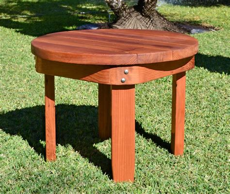 solid wood side table solid wood side table redwood side table