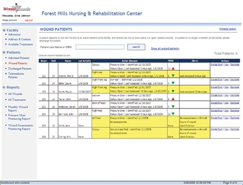 wound care documentation template reporting documentation woundrounds woundrounds