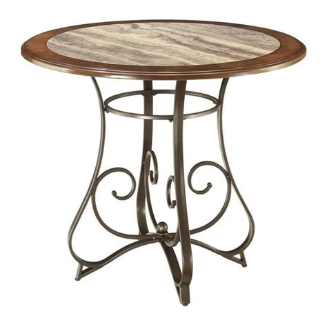 faux marble table l hopstand counter height faux marble dining