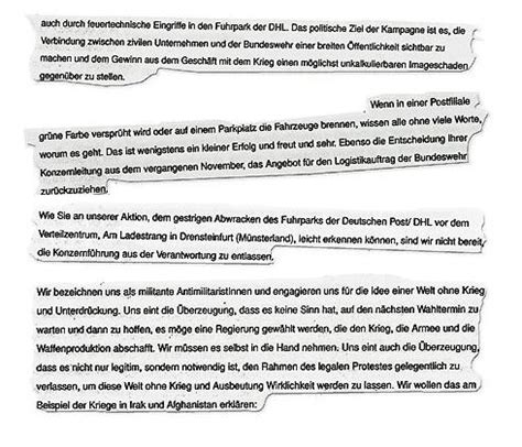 Bewerbung Briefzusteller Post Und Telekommunikation Kep April Juni 2010