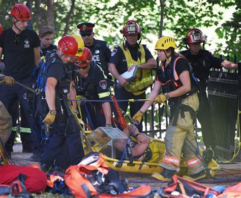 firefighters rope rescue   webster falls thespeccom