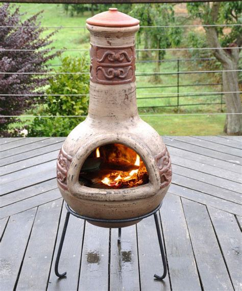 chiminea clay outdoor fireplace chiminea pit outdoor fireplace prism steel chiminea