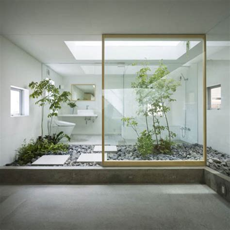 japanese home decoration 30 green ideas for modern bathroom decorating with plants