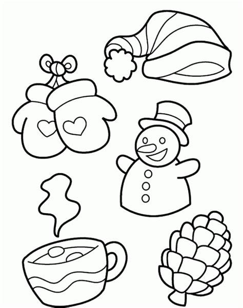 january coloring pages for preschool dibujo de invierno para colorear y pintar