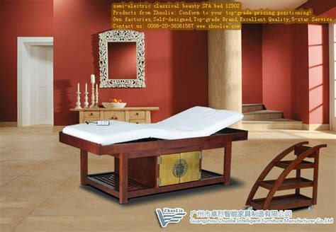 spa bed semi electric wood spa massage bed 12d02 china