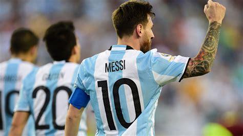 messi argentina messi equals goal record as argentina thrash