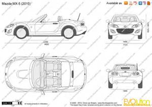 the blueprints vector drawing mazda mx 5